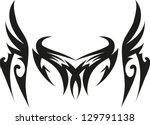 dragon tribal tattoo | Shutterstock .eps vector #129791138