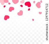hearts random falling... | Shutterstock .eps vector #1297914712