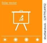 infographics on the stand ... | Shutterstock .eps vector #1297914952