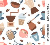 seamless pattern with different ... | Shutterstock .eps vector #1297927552