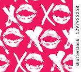 xoxo brush lettering signs... | Shutterstock .eps vector #1297933258