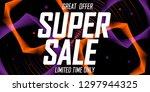 super sale  poster design... | Shutterstock .eps vector #1297944325
