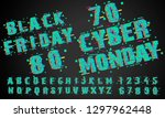 cyber monday sale abstract... | Shutterstock .eps vector #1297962448
