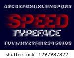 speed alphabet font. fast wind...   Shutterstock .eps vector #1297987822