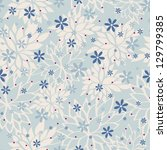 seamless pattern with beautiful ... | Shutterstock . vector #129799385