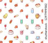 drinks and snacks set.... | Shutterstock .eps vector #1297999582