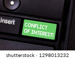 text sign showing conflict of... | Shutterstock . vector #1298013232