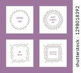 set of romantic spring postcard ...   Shutterstock .eps vector #1298018392
