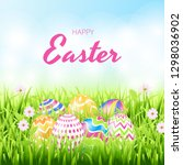 happy easter background... | Shutterstock .eps vector #1298036902