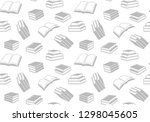 seamless vector pattern with... | Shutterstock .eps vector #1298045605