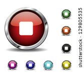 stop icons  buttons | Shutterstock .eps vector #129805535