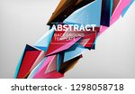 abstract color triangles... | Shutterstock .eps vector #1298058718