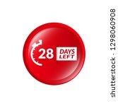 28 days left sign   emblem ...