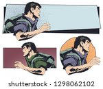 stock illustration. man with a...   Shutterstock .eps vector #1298062102
