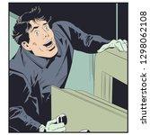 stock illustration. robber near ...   Shutterstock .eps vector #1298062108