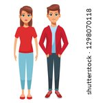 young people couple body | Shutterstock .eps vector #1298070118