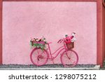Painted Saturated Pink Bicycle...
