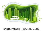 green city with building and... | Shutterstock .eps vector #1298079682
