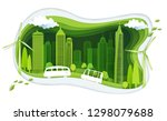 green city with building and... | Shutterstock .eps vector #1298079688