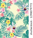 tropical vector seamless... | Shutterstock .eps vector #1298079772