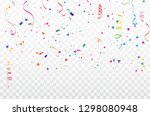colorful confetti celebration... | Shutterstock .eps vector #1298080948