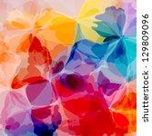 colorful original watercolor... | Shutterstock .eps vector #129809096