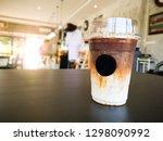 caramal macchiato. caramel... | Shutterstock . vector #1298090992