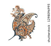 paisley colorful vector... | Shutterstock .eps vector #1298096995