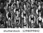rusty chain with large links.... | Shutterstock . vector #1298099842