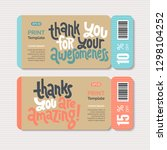 promotional coupon design... | Shutterstock .eps vector #1298104252