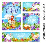 happy easter greetings ... | Shutterstock .eps vector #1298108515