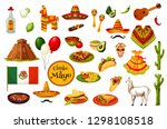 cinco de mayo mexican holiday... | Shutterstock .eps vector #1298108518
