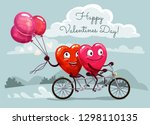 happy valentines day vector... | Shutterstock .eps vector #1298110135