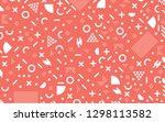 memphis pattern minimal... | Shutterstock .eps vector #1298113582