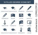 degree icons. trendy 16 degree... | Shutterstock .eps vector #1298125912