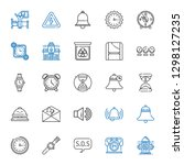 alarm icons set. collection of... | Shutterstock .eps vector #1298127235