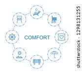comfort icons. trendy 8 comfort ... | Shutterstock .eps vector #1298131255