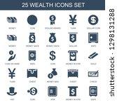 25 wealth icons. trendy wealth... | Shutterstock .eps vector #1298131288
