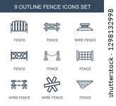 fence icons. trendy 9 fence... | Shutterstock .eps vector #1298132998