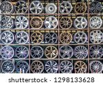 stand with alloy wheels in tire ... | Shutterstock . vector #1298133628