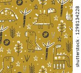 cute baby seamless pattern with ... | Shutterstock .eps vector #1298134228
