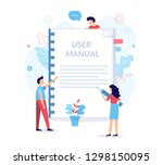 a team of specialists make up... | Shutterstock .eps vector #1298150095