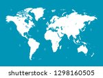world map vector | Shutterstock .eps vector #1298160505