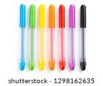 colorful marker pen set on... | Shutterstock . vector #1298162635