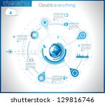 infographic template for... | Shutterstock . vector #129816746