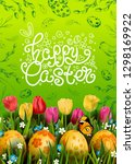 vector card with realistic... | Shutterstock .eps vector #1298169922