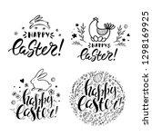 set of vector handwritten... | Shutterstock .eps vector #1298169925