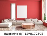 interior of spacious living... | Shutterstock . vector #1298172508