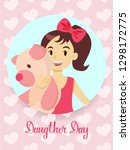 happy daughters day greetings... | Shutterstock . vector #1298172775