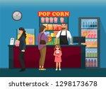 fast food  customers near...   Shutterstock .eps vector #1298173678